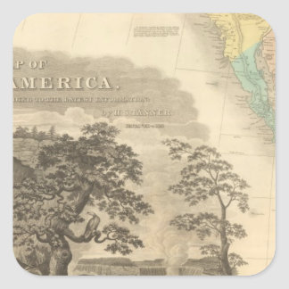 Norteamérica al sudoeste pegatina cuadrada