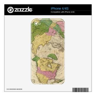 Norteamérica, Asia iPhone 4 Calcomanía