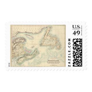 Norteamérica británico 3 timbre postal