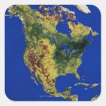 Norteamérica Calcomanías Cuadradass