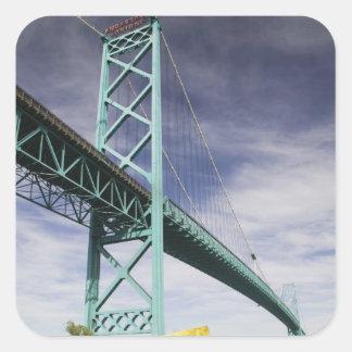 Norteamérica, CANADÁ, Ontario, Windsor: Pegatina Cuadrada