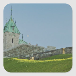 Norteamérica, Canadá, Quebec, la ciudad de Quebec Pegatina Cuadrada