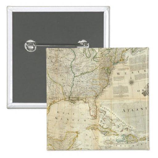 Norteamérica compuesto pin cuadrado
