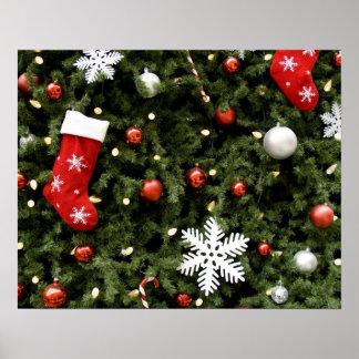 Norteamérica. Decoraciones del navidad en árbol. 2 Póster