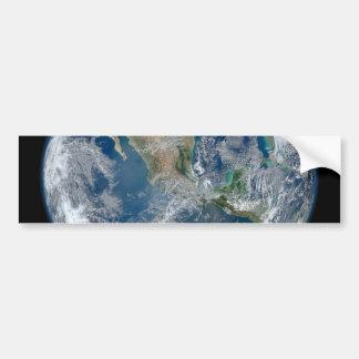 Norteamérica del satélite que está en órbita bajo pegatina para auto