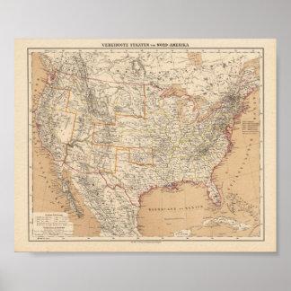 Norteamérica Flemming, reproducción 1865 de Carl Impresiones