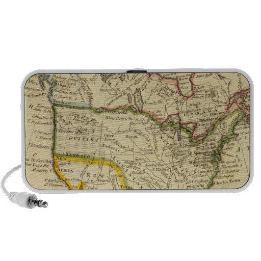 Norteamérica grabó el mapa altavoz de viaje