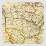 Norteamérica grabó el mapa pegatina cuadrada