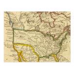 Norteamérica grabó el mapa postal