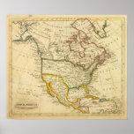 Norteamérica grabó el mapa póster
