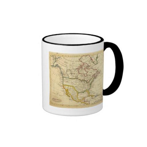 Norteamérica grabó el mapa taza a dos colores