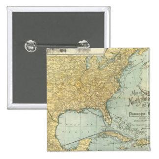 Norteamérica, líneas del pasajero de W Europa Pin