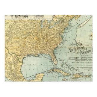 Norteamérica, líneas del pasajero de W Europa Postal
