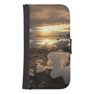 Norteamérica, los E.E.U.U., Alaska, bahía de hielo Fundas Tipo Cartera Para Galaxy S4