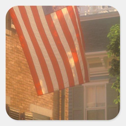 Norteamérica, los E.E.U.U., Massachusetts, Calcomanía Cuadradas Personalizada