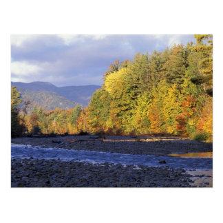 Norteamérica, los E.E.U.U., NH, río de Saco. Postal