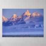 Norteamérica, los E.E.U.U., Wyoming, Teton magnífi Poster