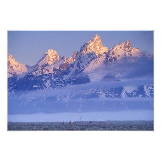 Norteamérica los E E U U Wyoming Teton magnífi Impresiones Fotograficas
