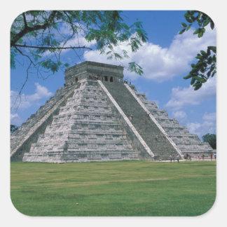 Norteamérica México península del Yucatán 2 Calcomanía Cuadrada Personalizada