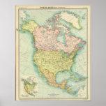 Norteamérica político póster