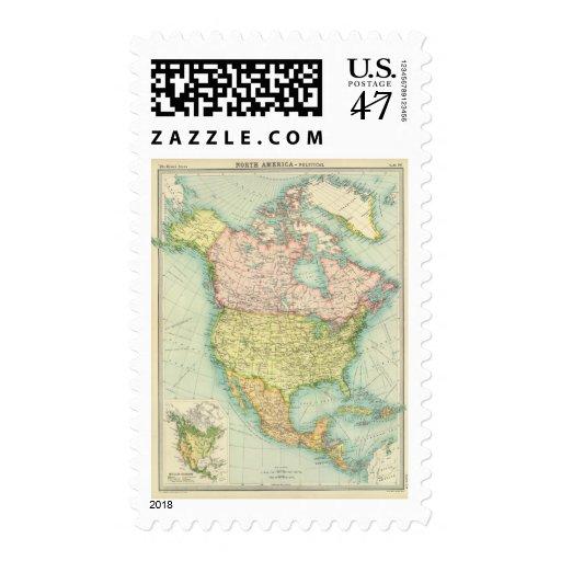 Norteamérica político timbres postales