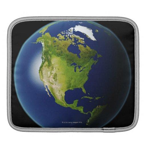 Norteamérica visto del espacio 2 funda para iPads