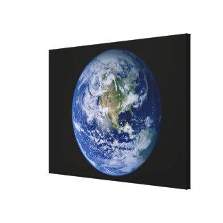 Norteamérica visto del espacio 2 lona envuelta para galerias