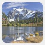 Norteamérica, Washington, cascadas. Mt. Shuksan Colcomania Cuadrada