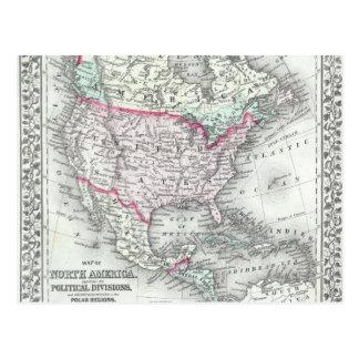 Norteamérica y el mapa de la antigüedad de Estados Postales