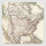 Norteamericano grabó el mapa calcomanía cuadradase