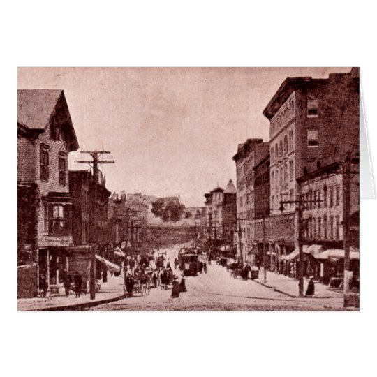 North Adams, Massachusetts Main Street Card