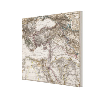 North Africa Map Canvas Print
