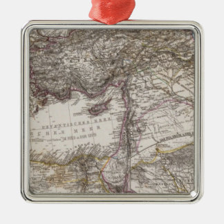 North Africa Map Metal Ornament