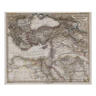 North Africa Map Poster