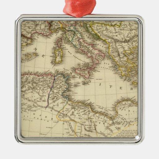 North Africa, Mediterranean Sea Metal Ornament