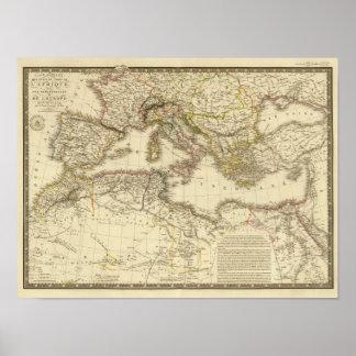 North Africa, Mediterranean Sea Poster