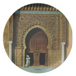 North Africa, Meknes, Tangers, Mosque Plate