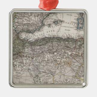 North Africa Region Map Metal Ornament
