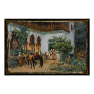 North African Scene Poster