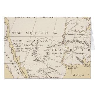 North America, 1722 Card