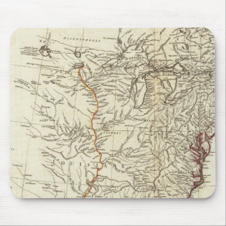 North America 1763 Boundaries inset map Mouse Pad
