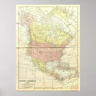 North America: 1914 Poster