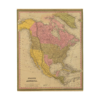 North America 35 Wood Wall Decor