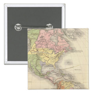 North America 46 Pinback Button