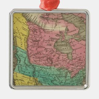 North America 5 Christmas Ornaments