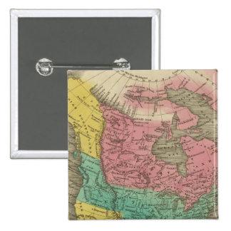 North America 5 Pinback Button