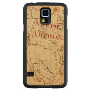 North America 8 Carved® Maple Galaxy S5 Slim Case