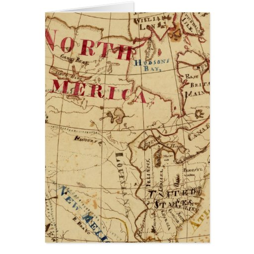 North America 8 Greeting Card