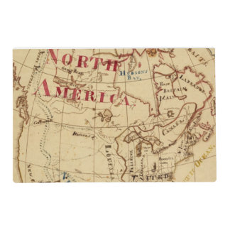 North America 8 Laminated Place Mat