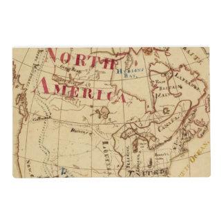 North America 8 Laminated Placemat